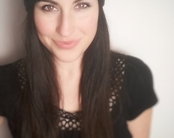 Black Confetti Slouch Hat ***READY TO SHIP***