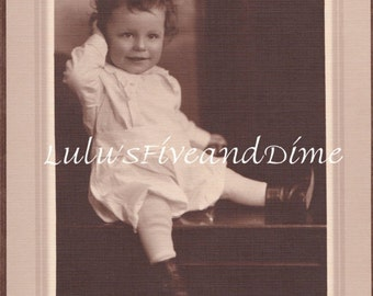 Vintage 1920's Studio Portrait - Cute Toddler with Messy Hair - Chicago, Illinois