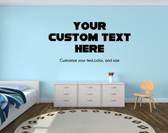 Custom Wall Decal Customized Youth Teen Bedroom Wall Decor Decal   Your Customized  Wall Decal With Part 96