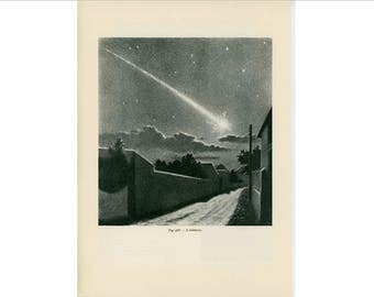1959 a fireball original vintage celestial astronomy print