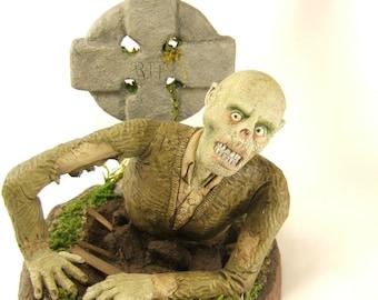 Zombie Graveyard Horror Art