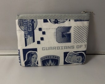 Guardians of the Galaxy Fabric Coin Purse- Handmade  Marvel  Blue