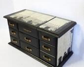 Gothic Jewelry Box - Cemetery Jewelry Box - Upcycled Jewelry Box - Music Jewerly Box - Dark Home Decor - Unisex Jewelry Box