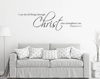 Scripture Wall Decal   I Can Do All Things Through Christ Who Strengthens  Me   Christian Pictures Gallery