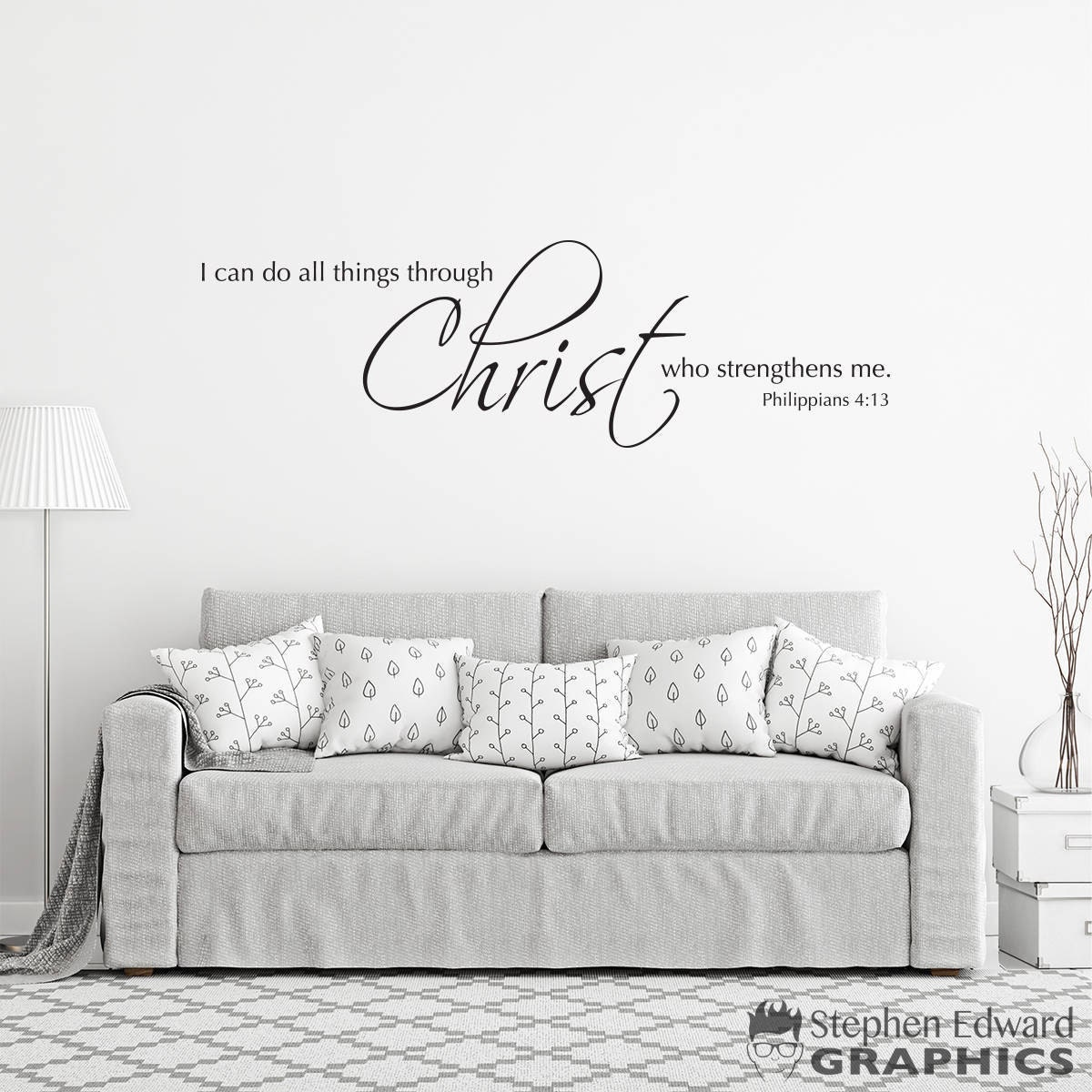 Scripture wall decal i can do all things through christ who zoom amipublicfo Gallery