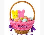 Large Personalized Easter Basket Liner for oversized baskets, Hot Pink Chevron, Basket not included, Jumbo, Monogrammed Easter basket liner