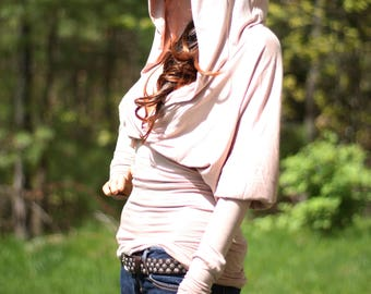 Top, hoodie, hooded top, blouse, tunic, hoodie top, women tunic
