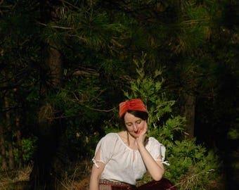 Size Medium... Vintage Velvet And Embroidered Folk Skirt... Bohemian Gypsy Skirt... Boho Poets Skirt