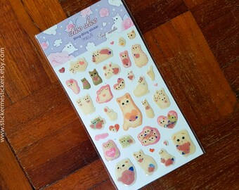 CAT stickers, Cat Lover stickers, Cat Lady stickers, Die-Cut Epoxy stickers, Kitten stickers, Choo Choo Cat stickers