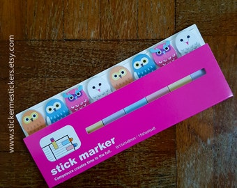 OWL sticky notes, Owl post its, Bird sticky notes, Bird post-its