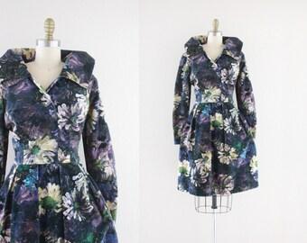 S A L E 1960's watercolor velvet dress