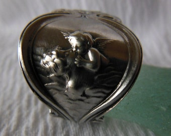 Loves Voyage by Unger  Antique Spoon Ring  Sterling Silver Size 6.25