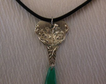 Thistle Antique Silverware Necklace