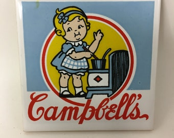 Campbell's Soup Tile - Campbell Kids™ Girl Stirring Pot