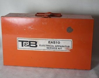 Metal Storage Box Dividers Handle Industrial Electrical Apparatus Storage Orange divided sections Many uses Steel Storage for your items