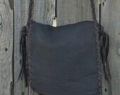Simple brown everyday bag , Simple brown handbag , Simple brown purse