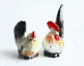 Vintage Rooster and Hen Salt and Pepper Shakers ~ Ceramic Shakers ~ Kitchen Decor ~ Like New ~ Yoko Boeki Co
