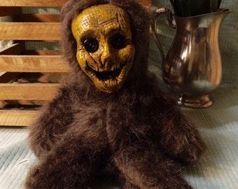 Original Hand Made Stuffed Scarecrow Teddy Bear Doll