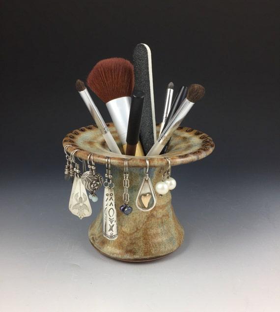 Earring Holder - Earring Tree - Ceramic Earring Display - Handmade Jewelry Holder - Earring and Makeup Brush Holder