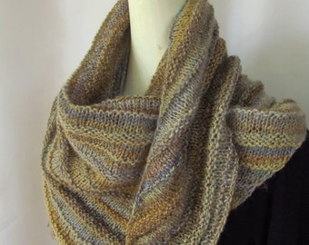 Hand Spun Hand Knitted Scarf