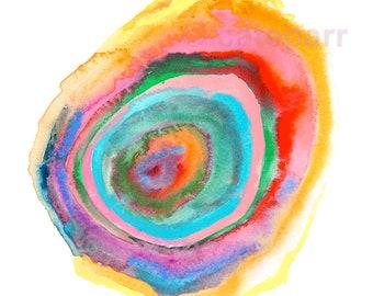Limited Edition Prints, Original Abstract Painting, Abstract Watercolor, Watercolor Wall Art, Rainbow Rock, Abstract Colour Print, Bohemian