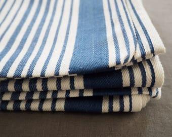 Vintage French striped tea towel
