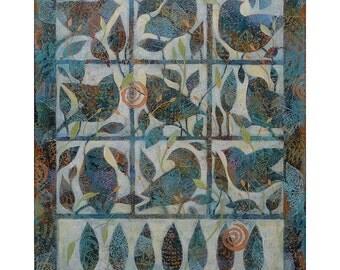 Bird Song, Painting on Canvas, 16x20 Original Art, home decor