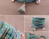 Best Seller Turquoise Bracelet, Gypsy Bracelet, Seafoam Bracelet, Bohemian Bracelet, Boho Bracelet Set, Tassel Jewelry, Turquoise Jewelry