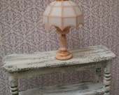 Miniature Lamp Pink Cottage Shabby Chic 1:12 Dollhouse Scale non-working, Tea Party, Girls Bedroom