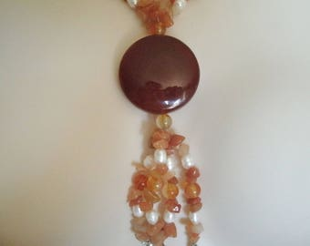 Red Agate Necklace, boho jewelry gypsy jewelry hipster jewelry bohemian jewelry hippie new age metaphysical boho necklace bohemian necklace