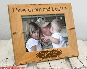 personalized daddy frame daddy is my hero christmas gifts for dad christmas gifts for him first christmas daddy gift