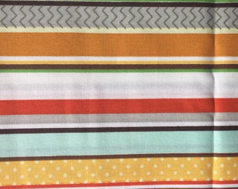 Multi Color Striped  Crib Sheet with French Seams