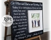 Mother of The Groom Gift From Bride, Mother of The Bride Gift, Father of the Bride gift, Personalized Picture Frame, 16x16