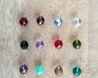 Birthstone Charm- 10mm- Add to my Jewelry please!