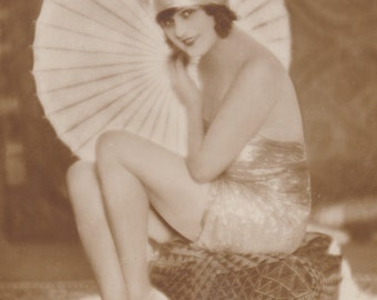 Hanni Weisse, Flapper with Parasol by Ross Verlag, circa 1927