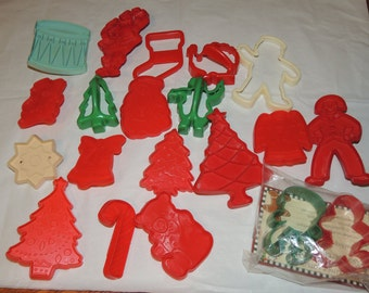 Vintage collection of cookie cutters