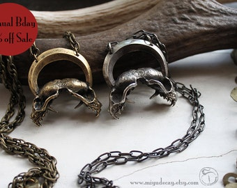 30% off Annual Birthday Sale Miyu Decay Immortalis Necklace in Brass and Sterling Silver