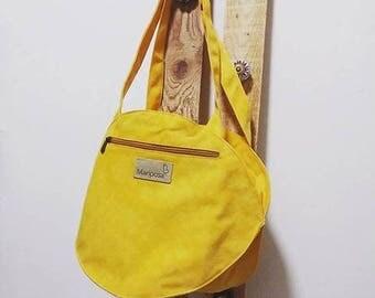 Yellow bag, Yellow canvas tote bag, yellow shoulder bag, yellow purse, Yellow bag Fabric purse, summer Fabric handbag bag, small purse
