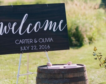 Welcome Wedding Sign - Welcome to our Wedding Sign - Welcome Decal - Wedding Decals - Wedding Signs - Wall Decals - Sign Stencils