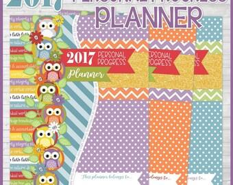2017 YW PERSONAL Progress Planner, Calendar, Organizer, Beehive, Mia Maid, Laurel, Young Women Planner, LDS - Printable Instant Download
