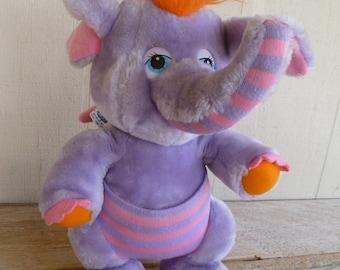 Disney Hasbro Wuzzles Elephant Plush 1984