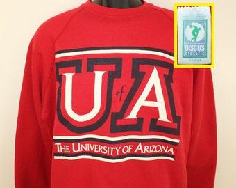 University of Arizona Wildcats vintage sweatshirt Short XL red 90s football basketball