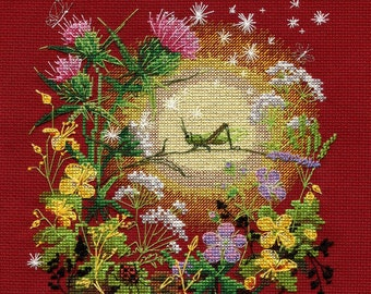 NEW UNOPENED Russian Counted Cross Stitch KIT Golden Hands М-022 Sunset