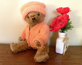 "Vintage German Bear - 15"" Vintage Bear - 1950's Teddy Bear"