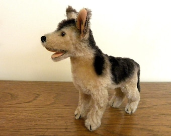Steiff Vintage Arco German Shepherd - Mohair Alsation Dog - US Zone 1950's Steiff Dog