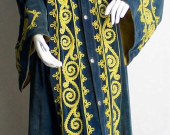 Vintage Odd Fellows Ceremonial Gown / Embroidered Velvet