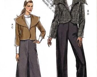 Vogue V8340 Sewing Pattern for Misses' Jacket, Skirt and Pants - Uncut - Size 14, 16, 18, 20