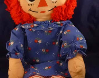 "Vintage Hasbro Softies Raggedy Ann Doll (17 1/2""), 1980s"