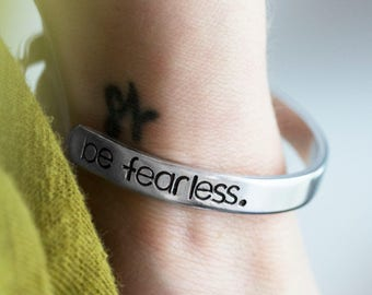 Graduation Gifts for Girls - Be Fearless - Class of 2017 - Graduation Gift for Daughter - High School Graduation Gift - Stamped Bracelet