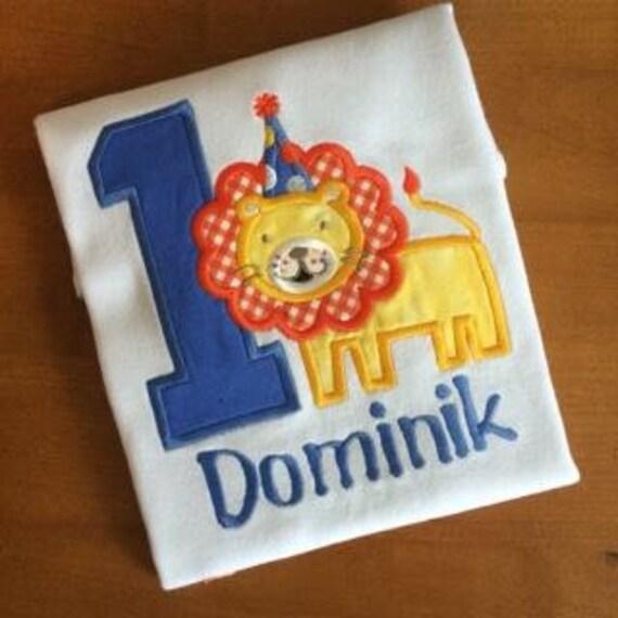 Boys Lion Birthday Shirt, Long or Short sleeve